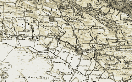 Old map of Whirrieston in 1904-1907