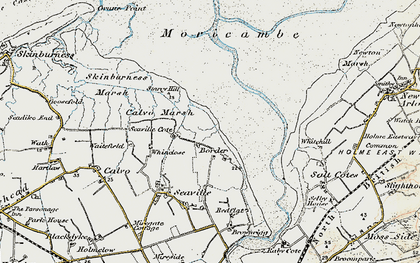 Old map of Whinclose in 1901-1904