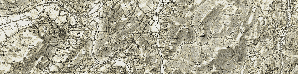 Old map of Whiteside in 1903-1904