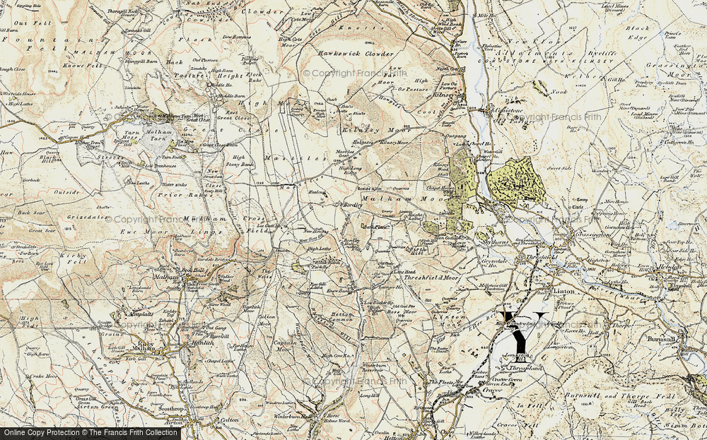 Old Map of Historic Map covering Bark Plantn in 1903-1904