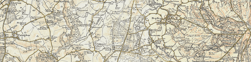 Old map of Bordon in 1897-1909