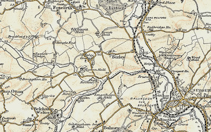 Old map of Borley in 1898-1901