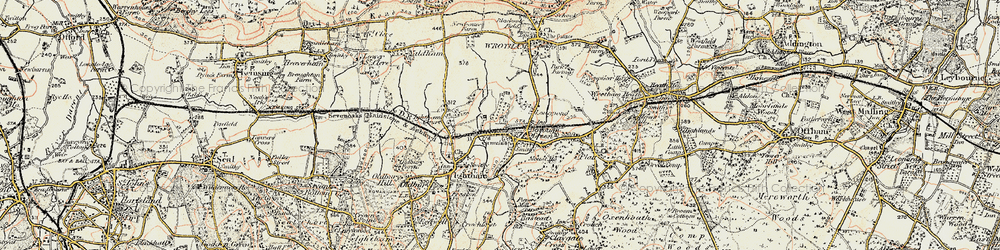 Old map of Borough Green in 1897-1898