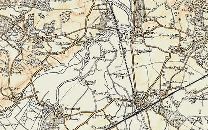Old map of Borough Marsh in 1897-1909