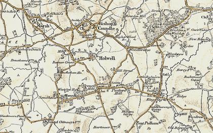 Old map of Woodbridge in 1899