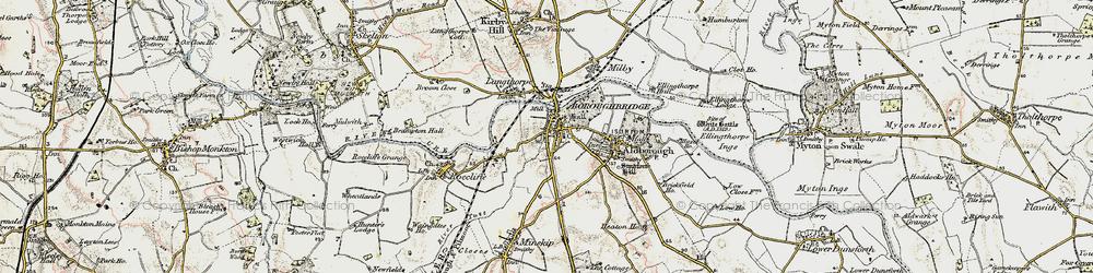 Old map of Boroughbridge in 1903-1904