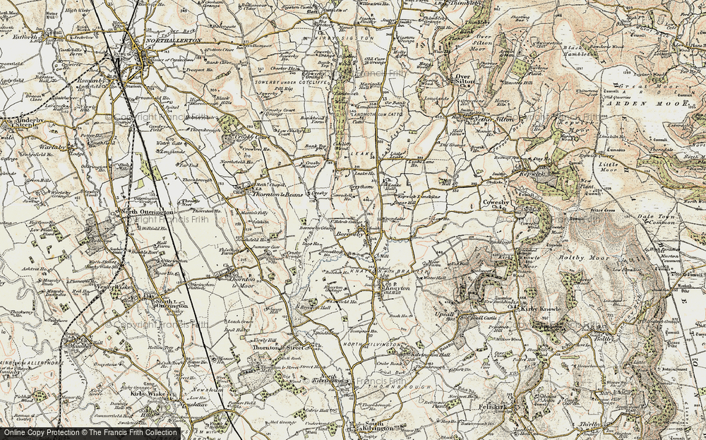 Old Map of Historic Map covering Leake Ho in 1903-1904