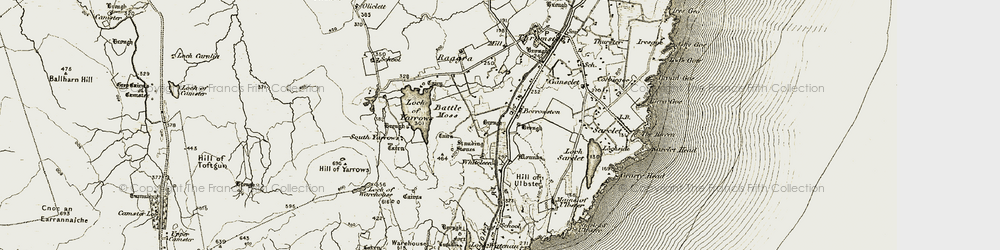 Old map of Whiteleen in 1912