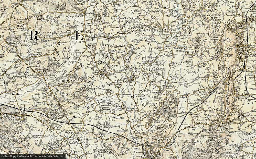 Old Map of Bosbury, 1899-1901 in 1899-1901