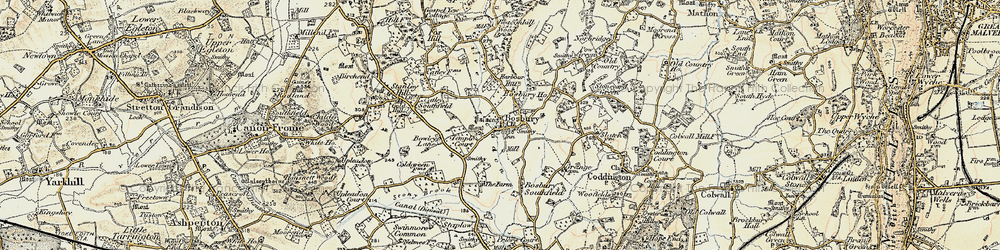 Old map of Bosbury in 1899-1901