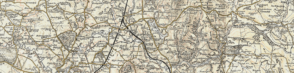 Old map of Bosley in 1902-1903