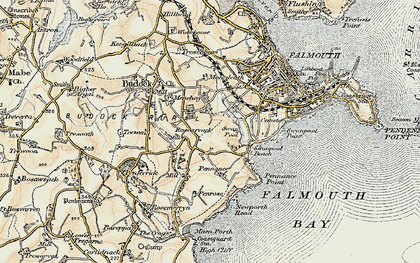 Old map of Boslowick in 1900