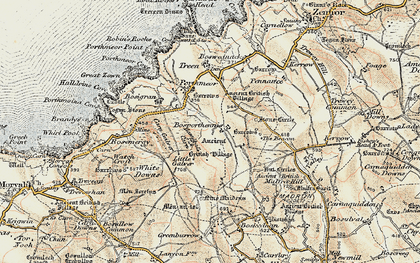 Old map of Bosporthennis in 1900