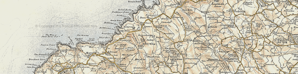 Old map of White Downs in 1900