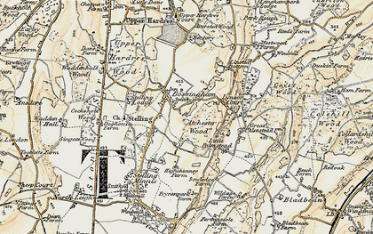 Old map of Atchester Wood in 1898-1899