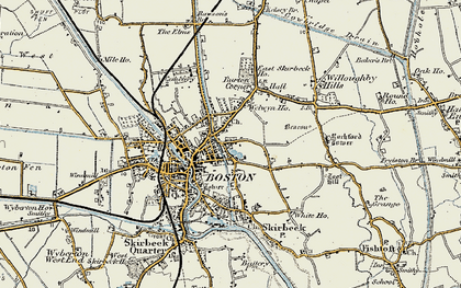 Old map of Boston in 1901-1902