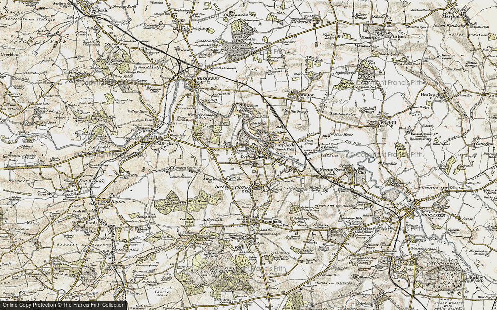 Old Map of Boston Spa, 1903-1904 in 1903-1904