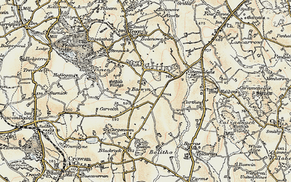 Old map of Boswyn in 1900