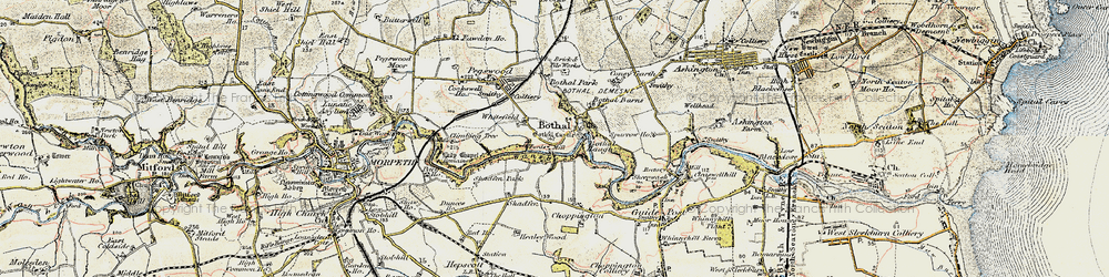 Old map of Whitefield in 1901-1903