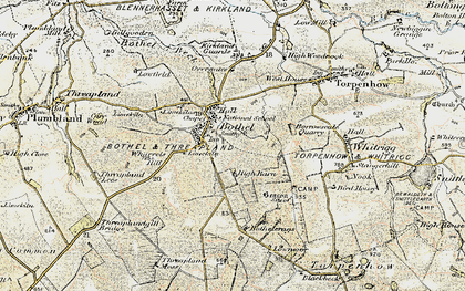 Old map of Wharrels Hill in 1901-1904