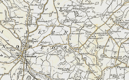 Old map of Botley in 1897-1898