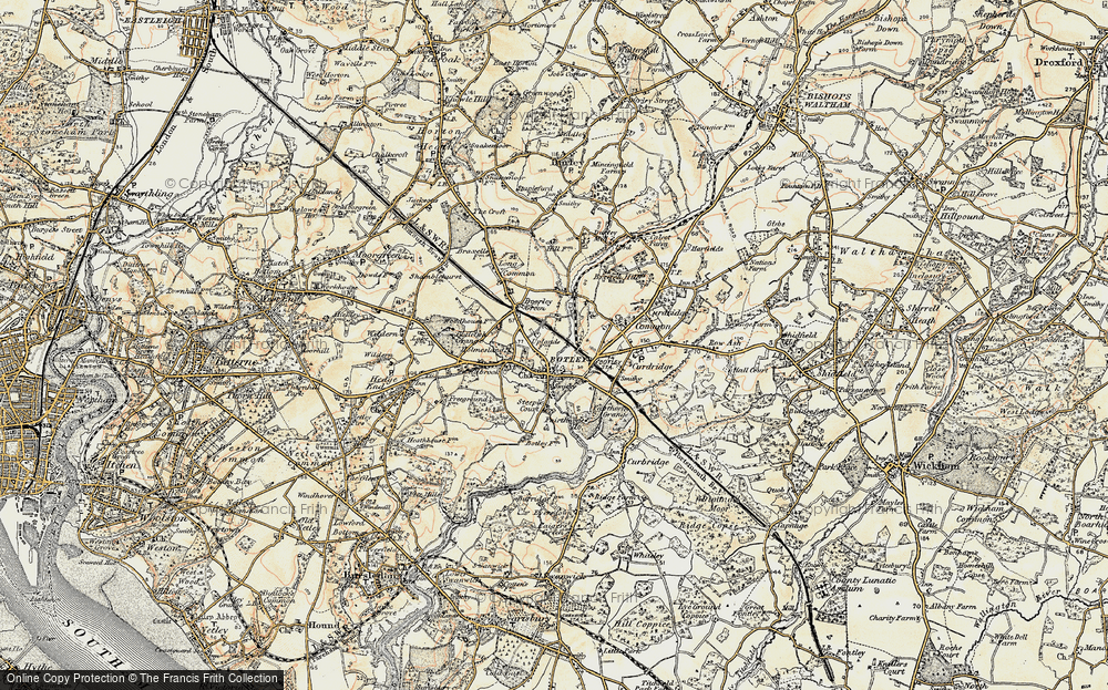 Old Map of Botley, 1897-1899 in 1897-1899