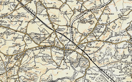 Old map of Botley in 1897-1899