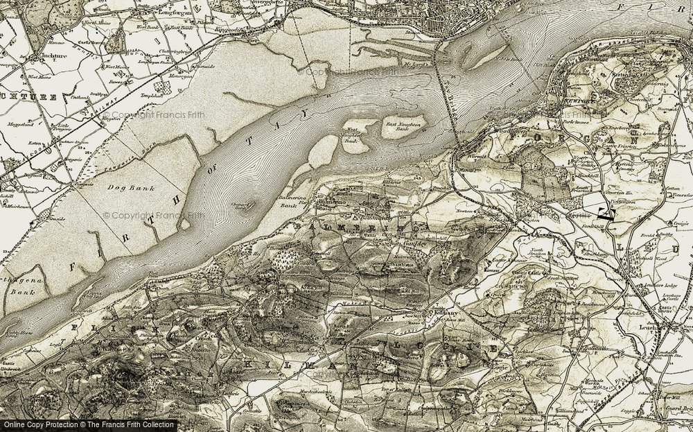 Old Map of Bottomcraig, 1906-1908 in 1906-1908