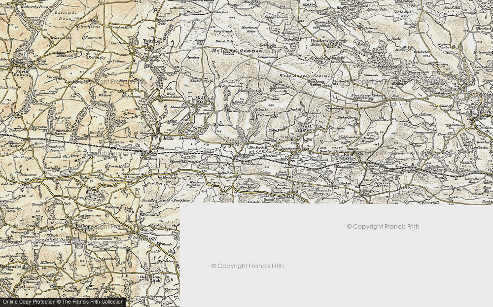Old Map of Historic Map covering Lee in 1900