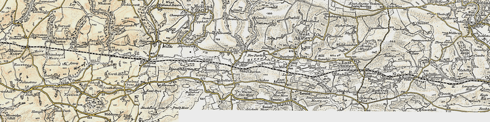 Old map of Wester New Moor in 1900