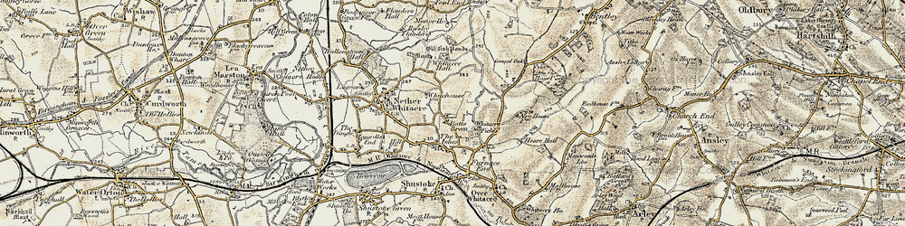 Old map of Whitacre Fields in 1901-1902