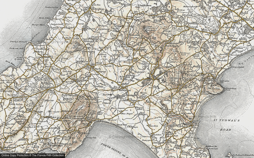 Old Map of Historic Map covering Llandegwning in 1903