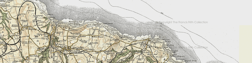 Old map of White Stones in 1903-1904