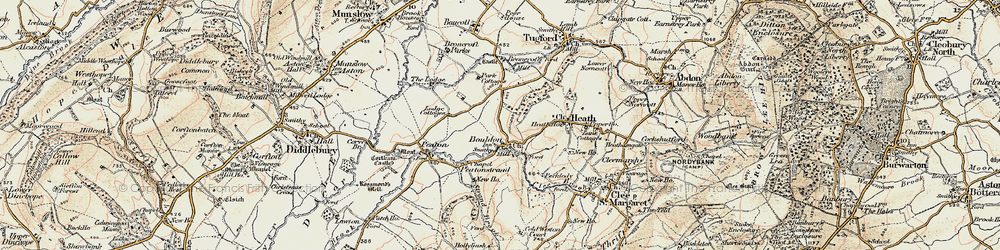 Old map of Wynett Coppice in 1901-1902