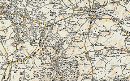 Old map of Acorn Wood in 1899-1900