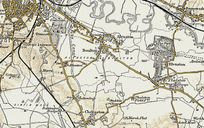 Old map of Boulton in 1902-1903