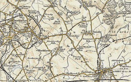 Old map of Boundary in 1902-1903