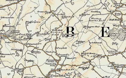 Old map of Bourne End in 1898-1901