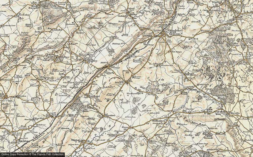 Old Map of Historic Map covering Woodhousefield in 1902