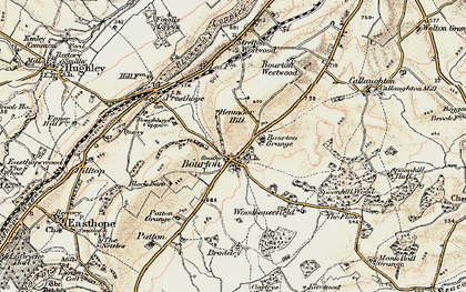 Old map of Woodhousefield in 1902