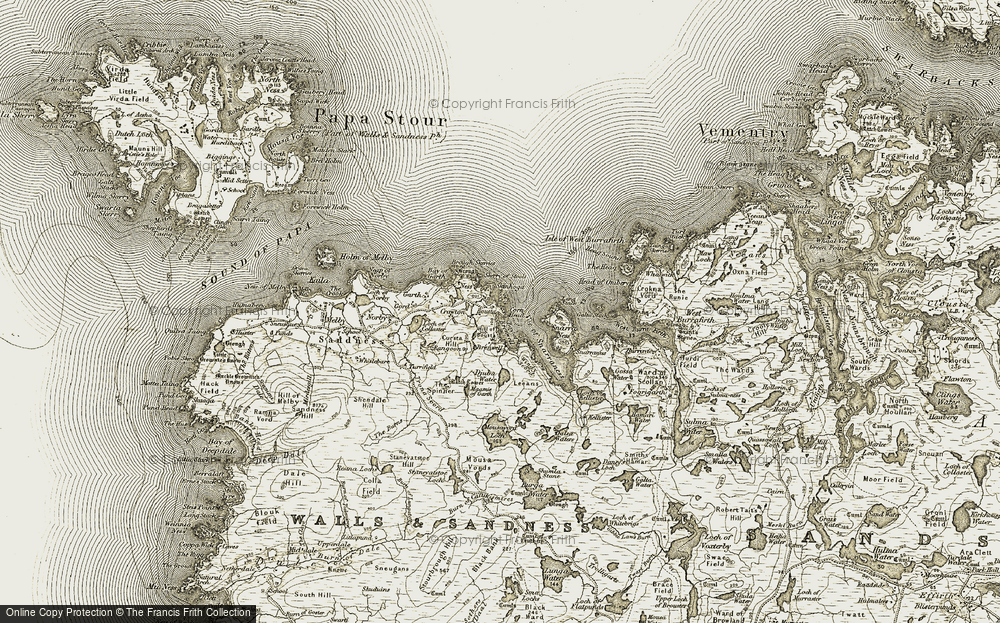 Old Map of Historic Map covering Leeans in 1911-1912