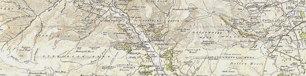 Old map of Light Hill in 1903-1904