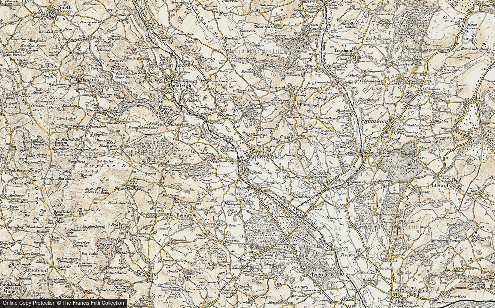 Old Map of Historic Map covering Wifford in 1899-1900