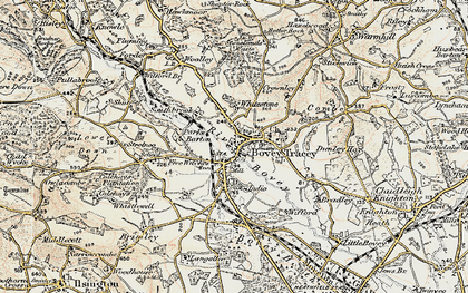 Old map of Whitstone Ho in 1899-1900