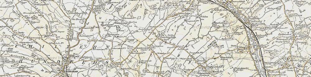 Old map of Bovingdon in 1897-1898