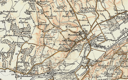Old map of Bovingdon Green in 1897-1898