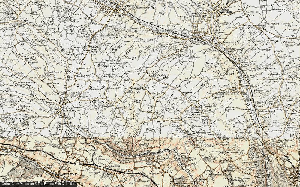 Old Map of Bovingdon Green, 1897-1898 in 1897-1898