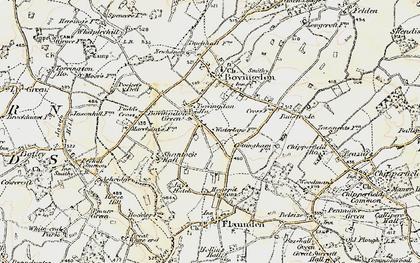 Old map of Bovingdon Green in 1897-1898