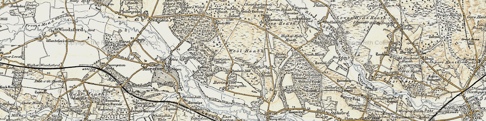 Old map of Bovington Camp in 1899-1909