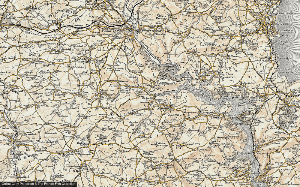 Old Map of Bow, 1899 in 1899